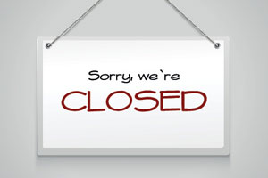 closed for kitchen refurbishment